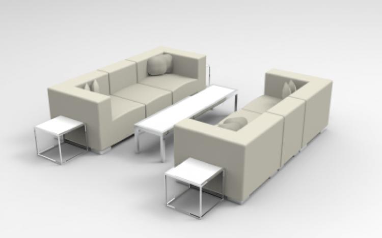 Lounge Package - Mondrian - 10 x 10 - White