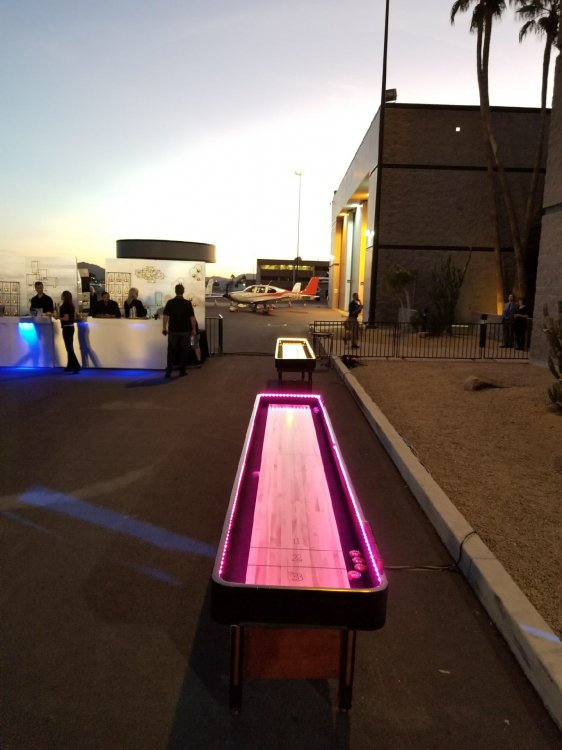 12' Shuffleboard Table - Wood - With LED