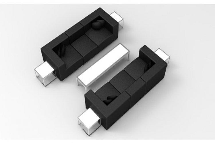 Lounge Package - Mondrian - 10 x 10 - Black