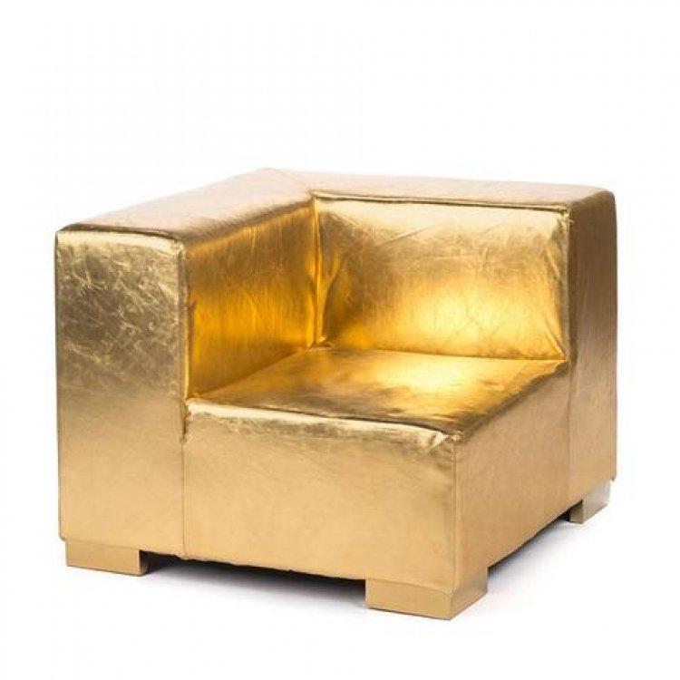 Mondrian - Corner - Gold Metallic