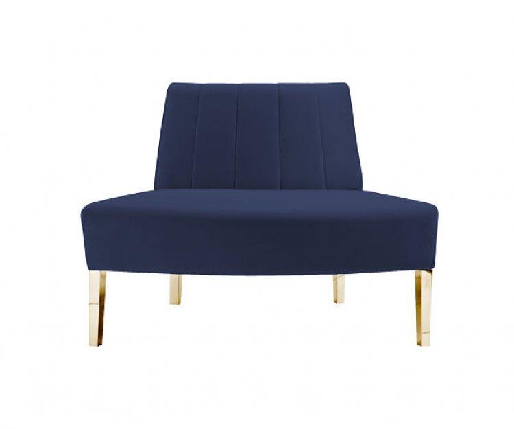 Kincaid Sofa - Outside Round - Sapphire