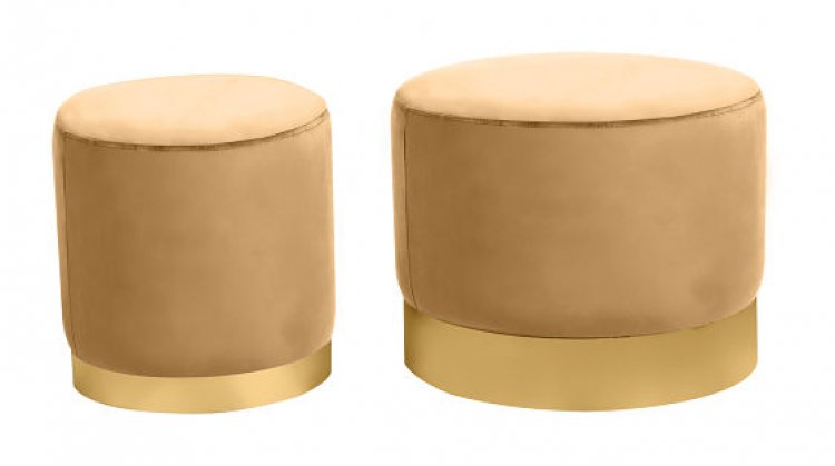 Ottoman Set - Wee and Stout - Champagne