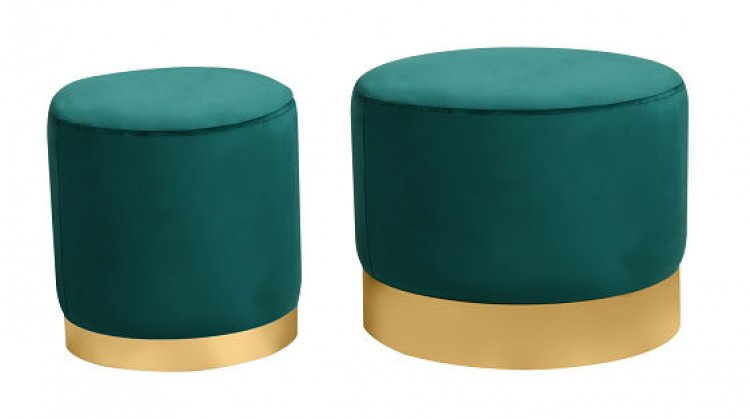 Ottoman Set - Wee and Stout - Emerald