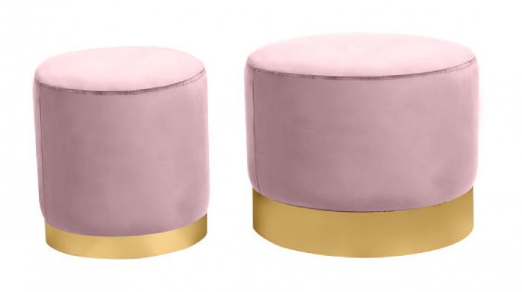 Ottoman Set - Wee and Stout - Dusty Rose