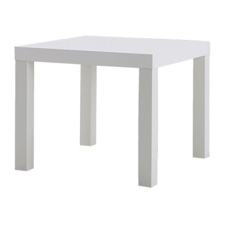 Side Table - Vaseo Cube - White