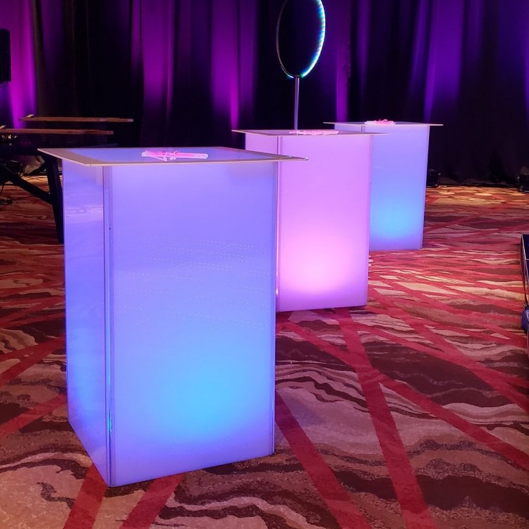 Glowing Cube Cocktail Table - 40 inch height