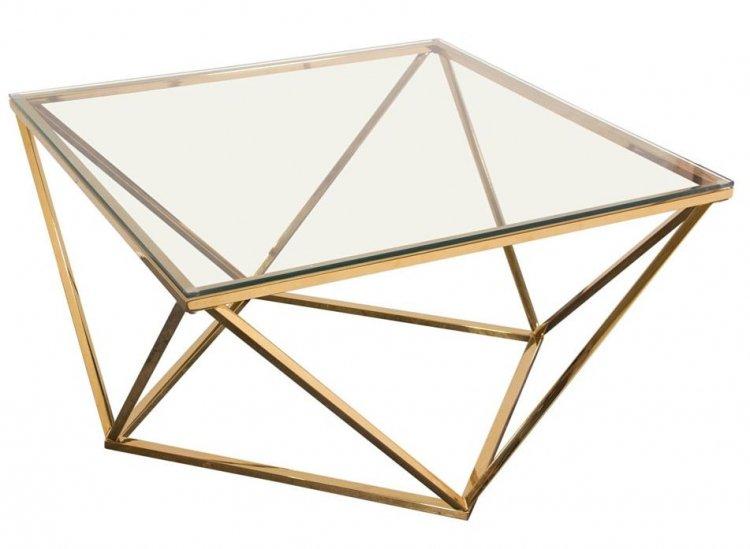 Coffee Table - Gem - Gold Frame