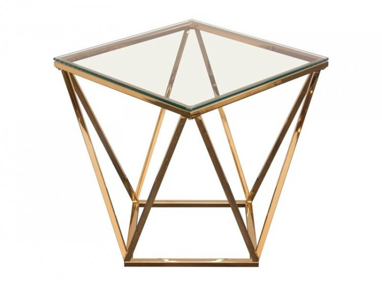 Side Table - Gem - Gold Frame