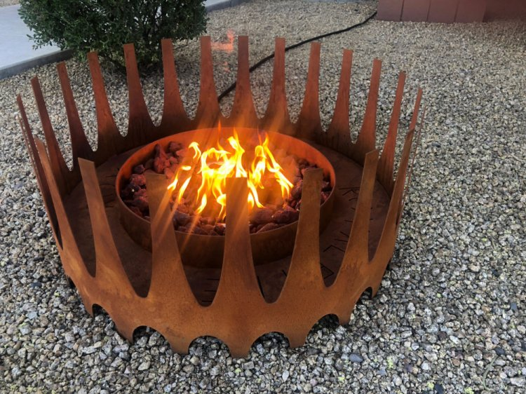 Royalfire Fire Pit - Rust Finish