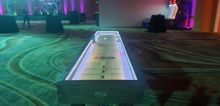 12ft Shuffleboard Table - Wood