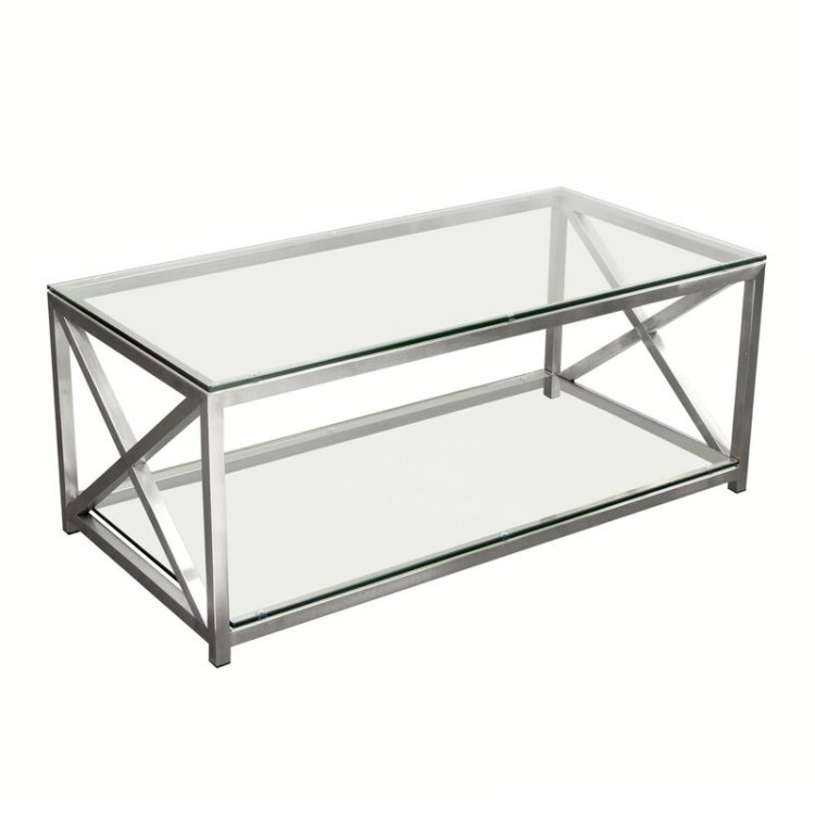Coffee Table - X Factor - Brushed Silver