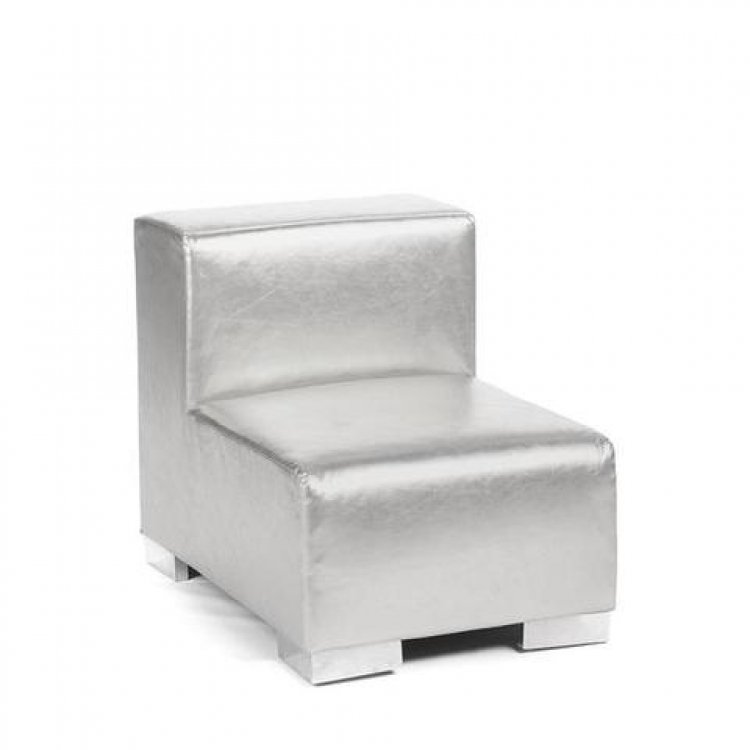 Mondrian - Middle Armless - Silver Metallic