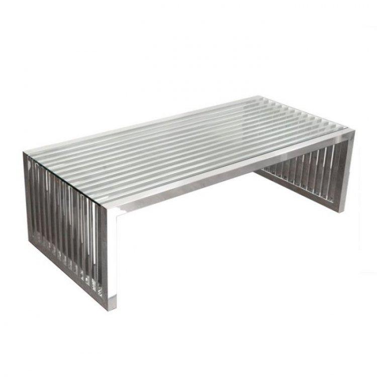 Coffee Table - Soho - Polished Silver