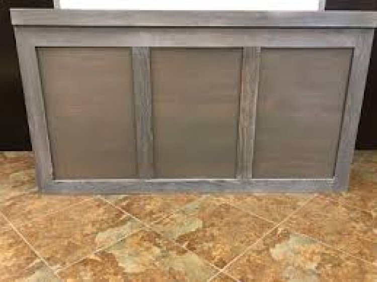 Bar - Brooks 6ft Wood - Gray Wash