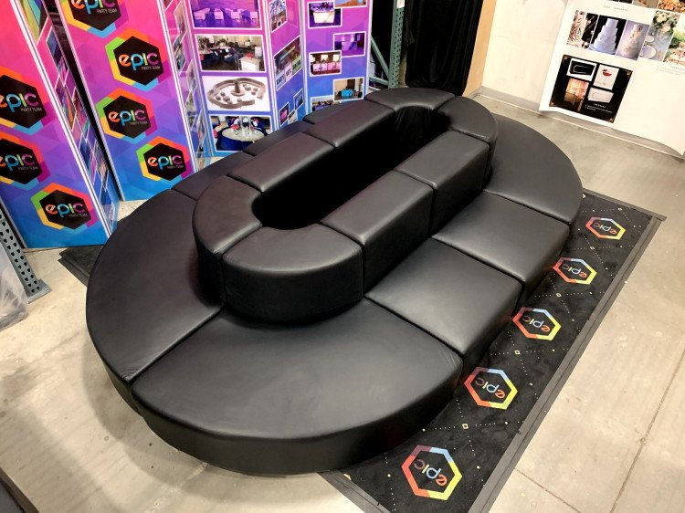 Mondrian - Oval Lounge XL - Black