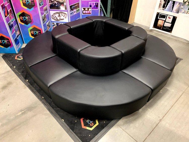 Mondrian - Circular Couch XL - Black