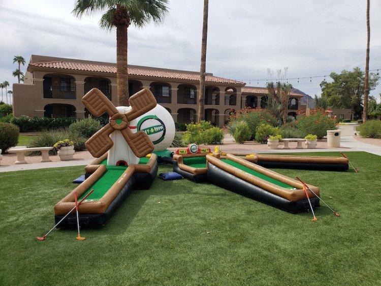 3 Hole Inflatable Mini Golf